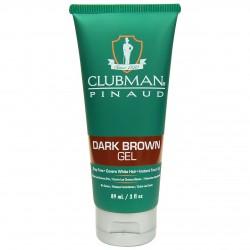 Гель д/волосс подкрашивающий темно-коричневый Clubman Temporary Dark Brown Gel 89 мл