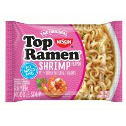 Вермишель быстрого приготовления NISSIN TOP RAMEN SHRIMP вкус кретки 85 грамм