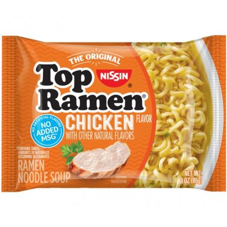 Вермишель быстрого приготовления Ниссин TOP RAMEN CHICKEN со вкусом курицы 85 грамм