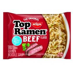 Вермишель быстрого приготовления Ниссин TOP RAMEN BEEF со вкусом говядины 85 грамм