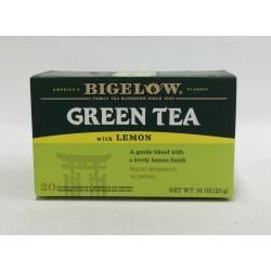 Чай Бигелоу зеленый с лимоном 25 грамм 20 пакетиков