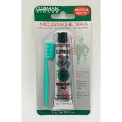 Воск для укладки усов бесцветный Клубман из пчелиного воска 14 грамм