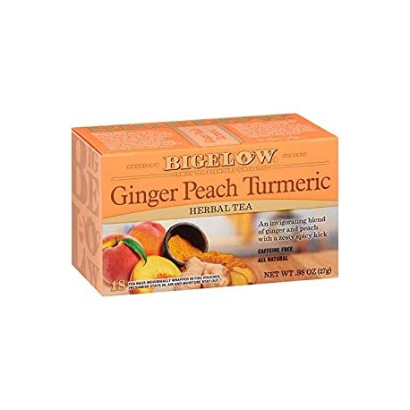Травяной чай с персиком Bigelow Ginger Peach Turmeric 27 гр