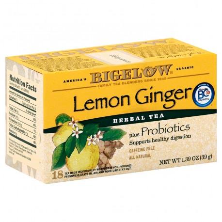 Травяной чай с лимоном и имбирем Bigelow Lemon Ginger 39 гр