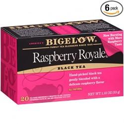 Черный чай с малиной Bigelow Raspberry Royale 33 гр
