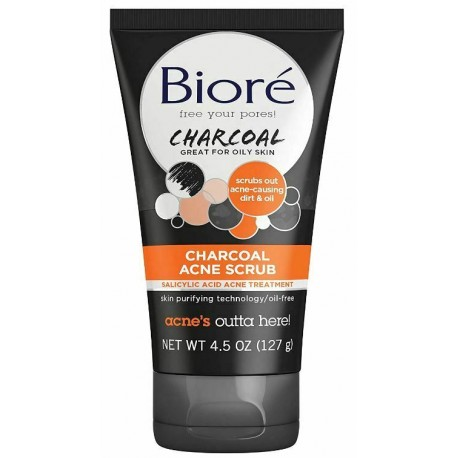 Скраб для лица Bioré Charcoal Acne Scrub 127 грамм