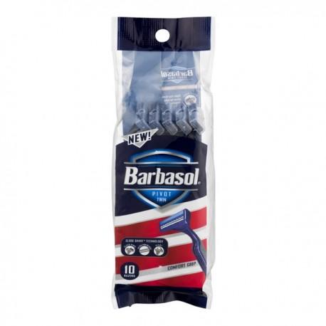 Одноразовые бритвенные станки Barbasol Pivot Twin Premium Disposable Razor 10 шт