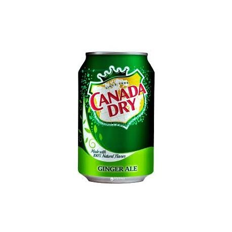 Напиток газированный Canada Dry Ginger-ale имбирный эль 355 мл