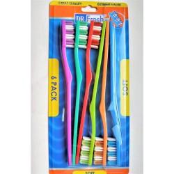Набор зубных щеток DR. FRESH для всей семьи 6 шт