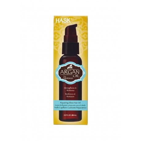 Масло д/волос Hask Argan Oil восстанавливающая для блеска 59 мл коробка